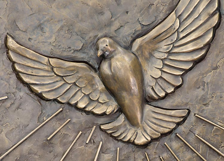 Detail of a dove of the Holy Door